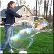 Blowing Big Bubble